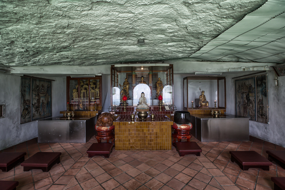 The shrine inside the cave