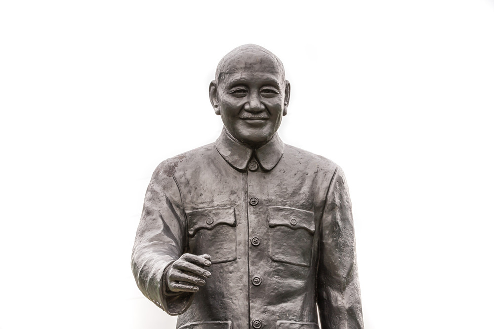 A statue of President Chiang Kai Shek, a polarizing figure in Taiwanese history.