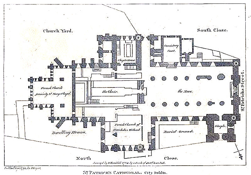 Floor Plan of the Cathedral (Wikipedia Commons)