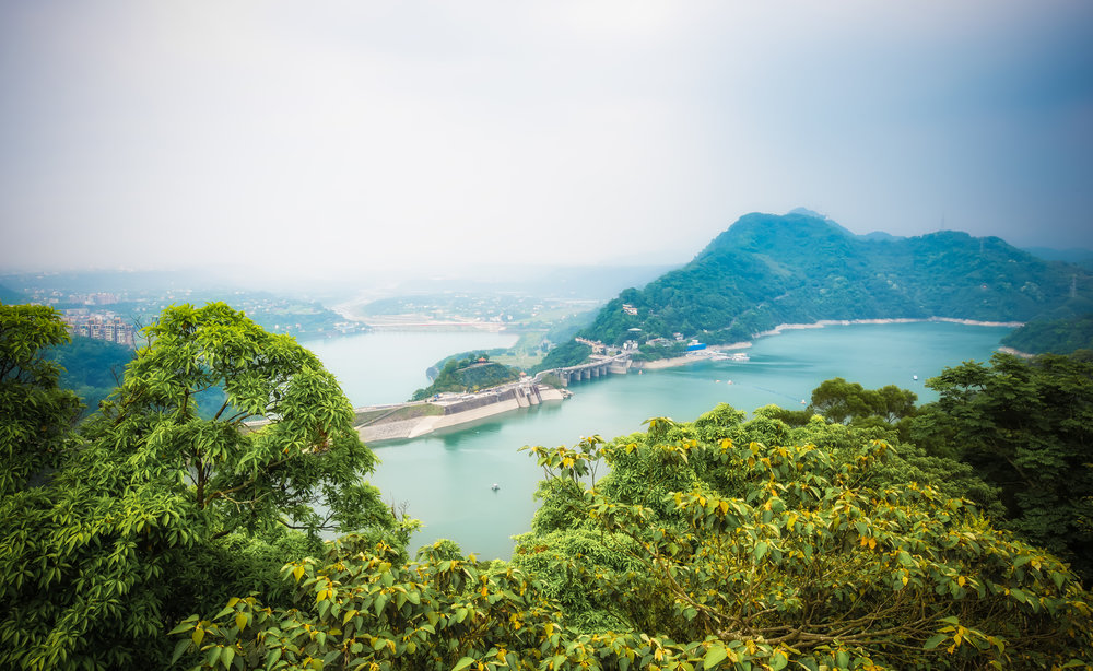 The view of Shimen Dam from Buddha's World.