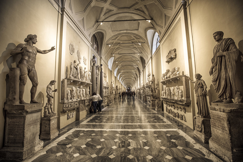 Halls of art at the Vatican Museums