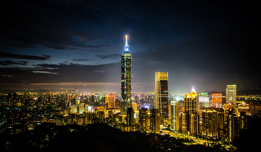 Taipei City at night.