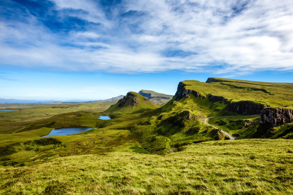 The Quiraing on Scotland's Isle of Skye.