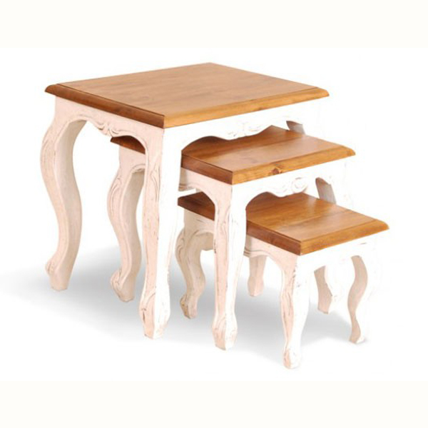 PP003/BB    Provence Carved Nest Tables