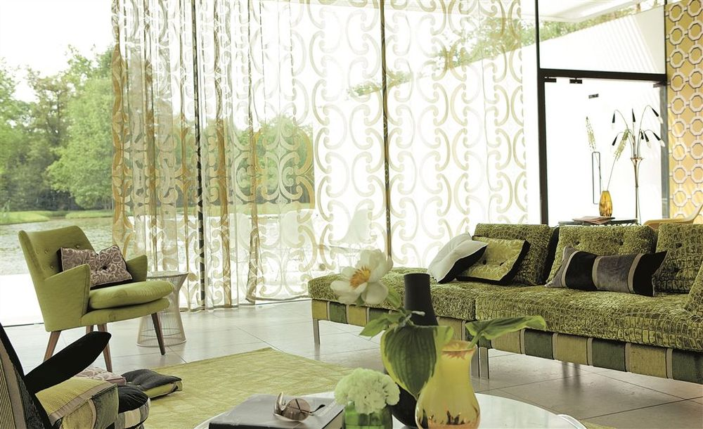 Designers Guild -Quinto elegant, lustrous and wide-width sheers.