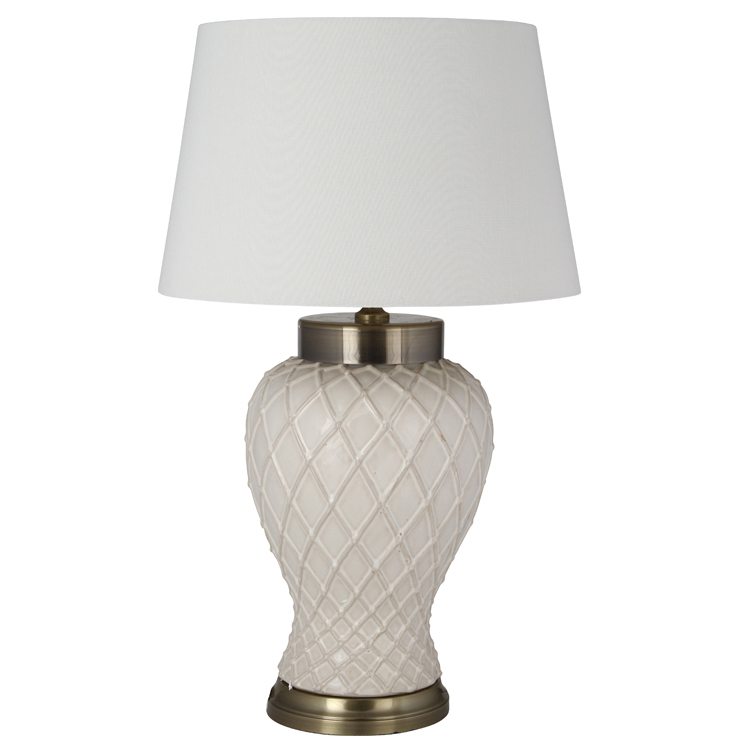 Textured Ceramic Table Lamp €158.00 45x45x74cm    PL