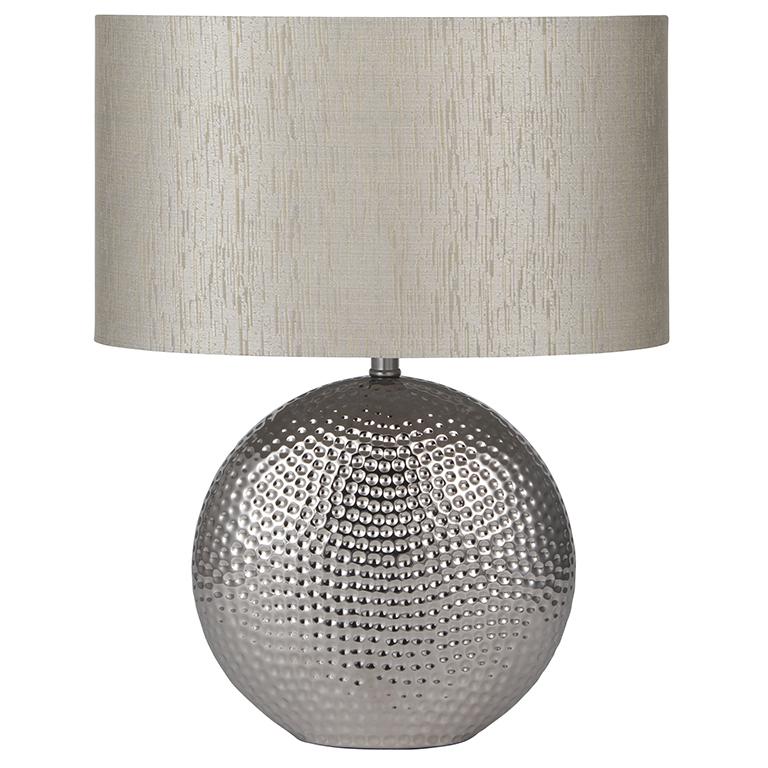 Chrome Hammered Lamp €49.50 19x31x41cm  PL