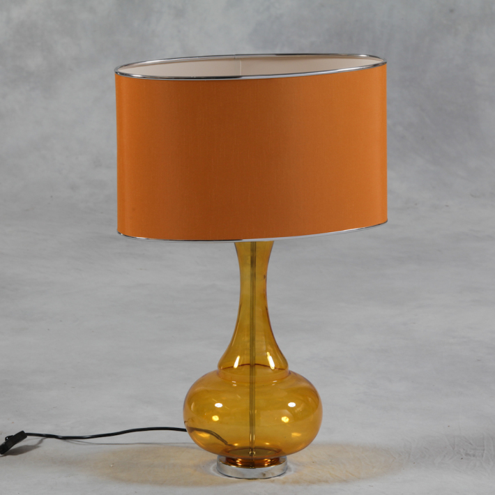 Orange Bulbous Lamp €158.00 36x25x70cm    MCGR