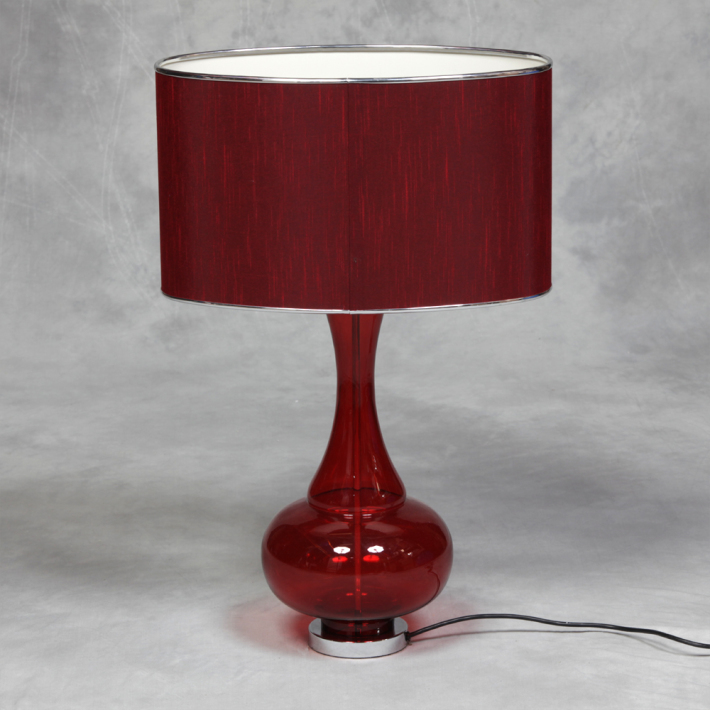Red Bulbous Lamp €158.00 36x25x70cm   MCGR