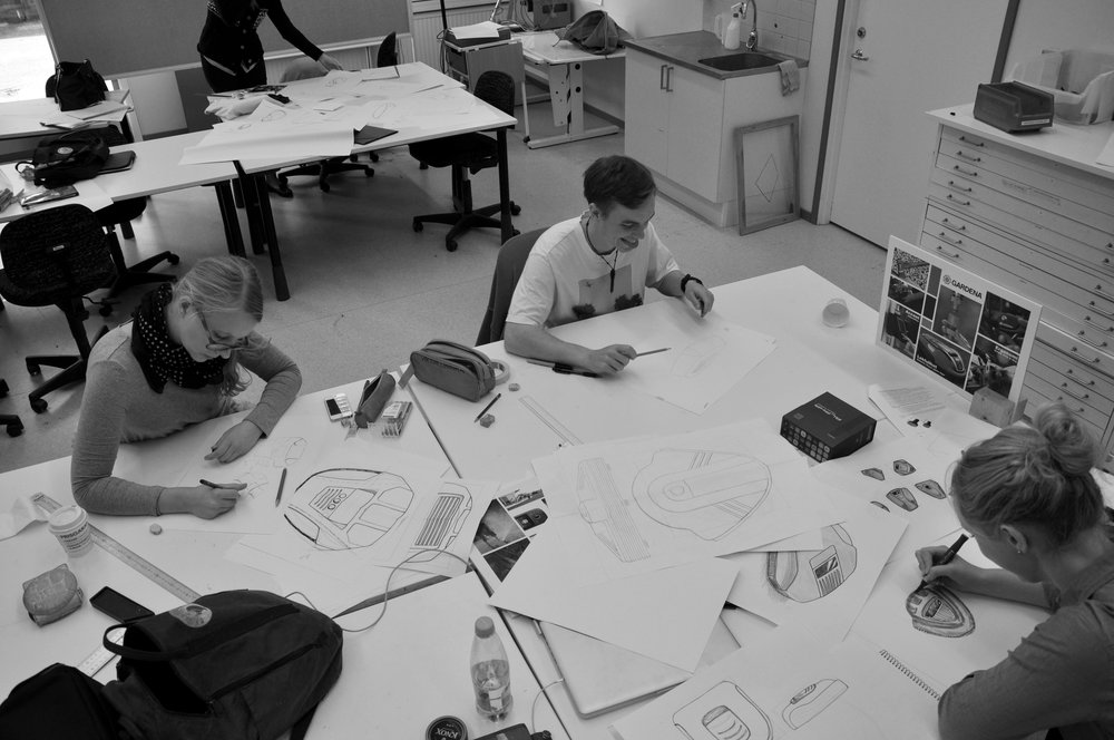 Design exploration - Many sketches were made in group to examine the design language and agree on a way forward