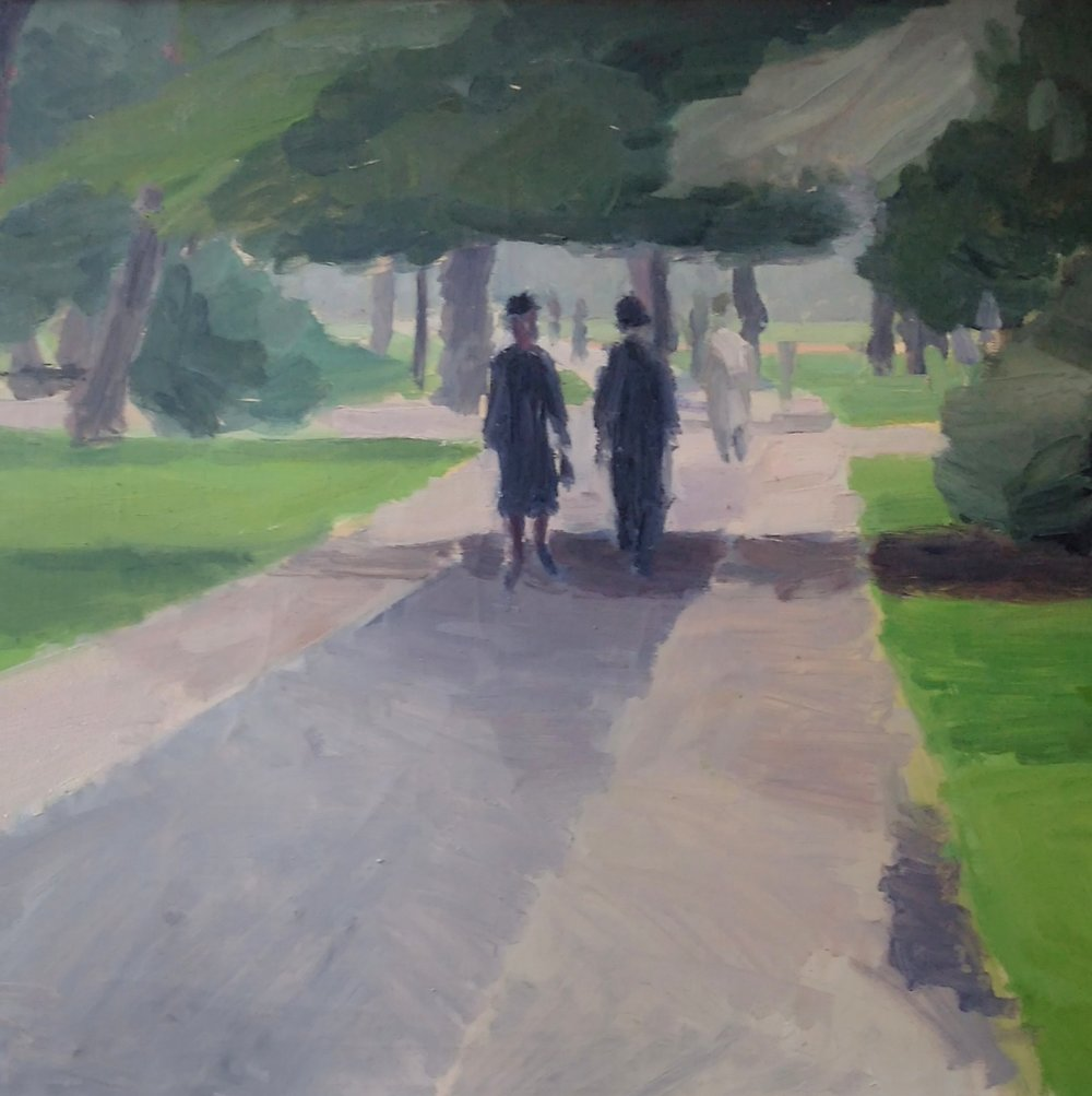 Walk in the park    Oil on canvas (framed)    22 7/16 x   30 5/16 in   (57 x 77cm  )      SOLD