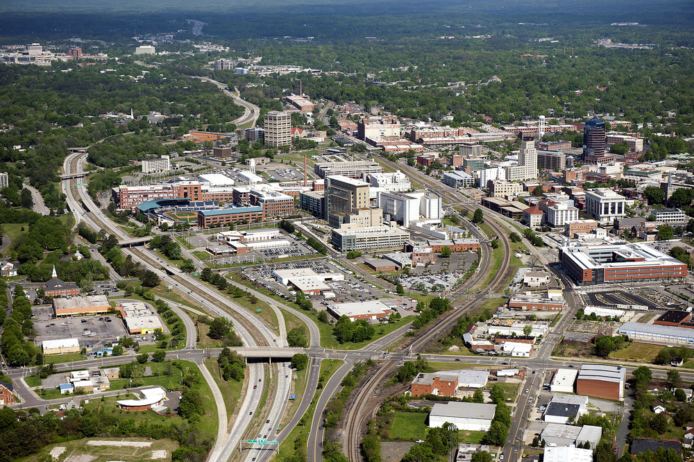 Aerial View of Durham, NC