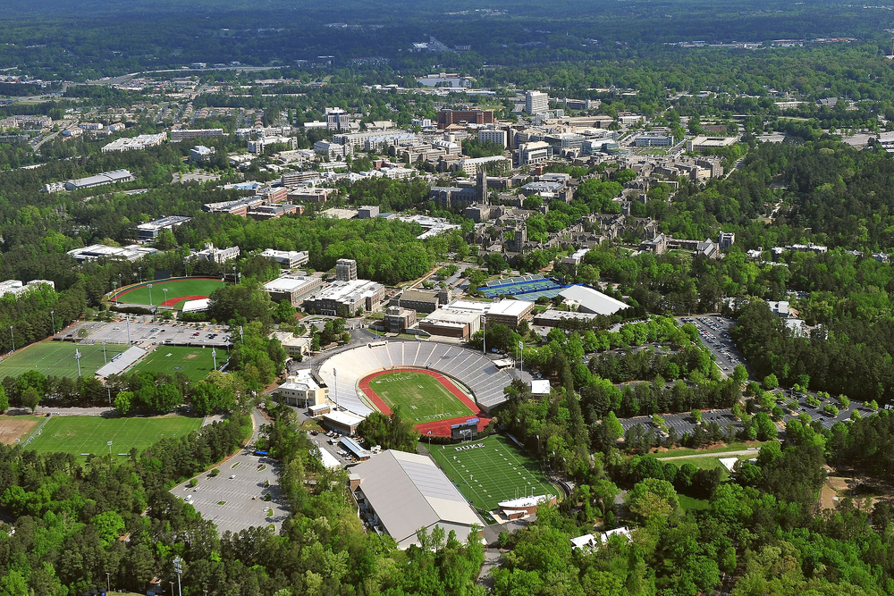 Aerial View of Duke University Campus