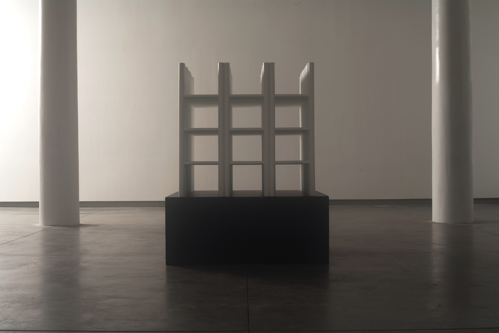 white cube (72 free-standing ladders)
