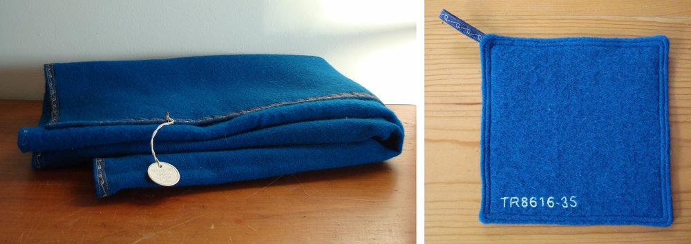 Blue Bolivian Blanket