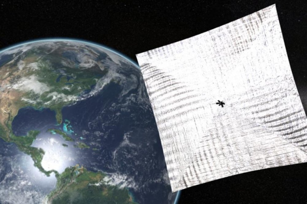 Lightsail's solar cells unfurled through simulation.