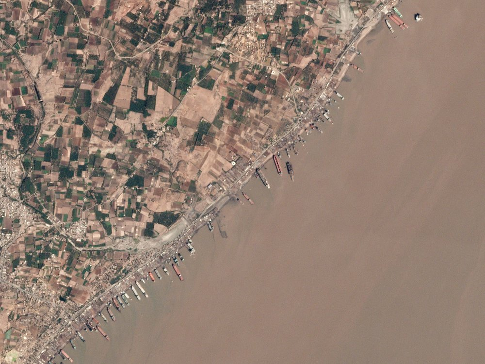 Pincture sent of Alang, India. Source: Planet Labs