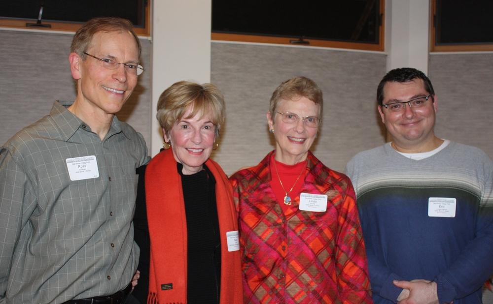 Host Ross Schipper, BCAVP Nan Bell, host Linda Brooks, and BCA President Eric Langenbacher