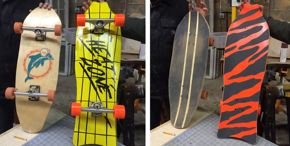 students' Designs come to life with custom graphics and custom  grip tape application.