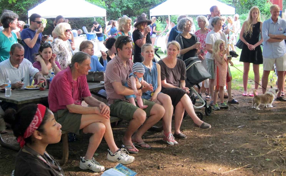 a crowd gathers for the results of the top dog contest. This year's picnic was the best-attended one in recent memory.