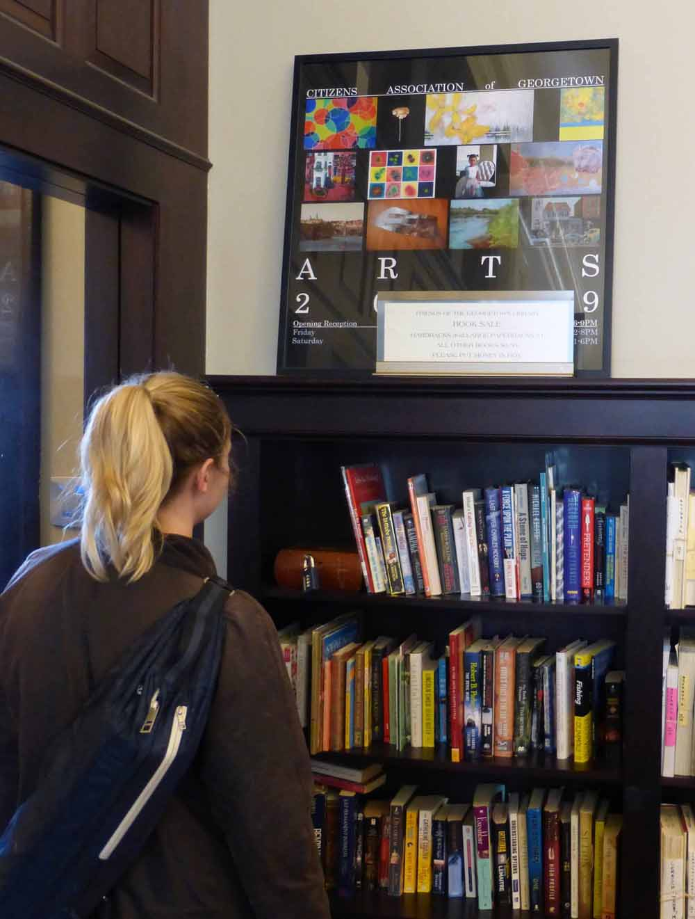 "the friends provide ""a range of visible and invisible contributions,"" including an on-going used book sale, notes library manager lucy thrasher."