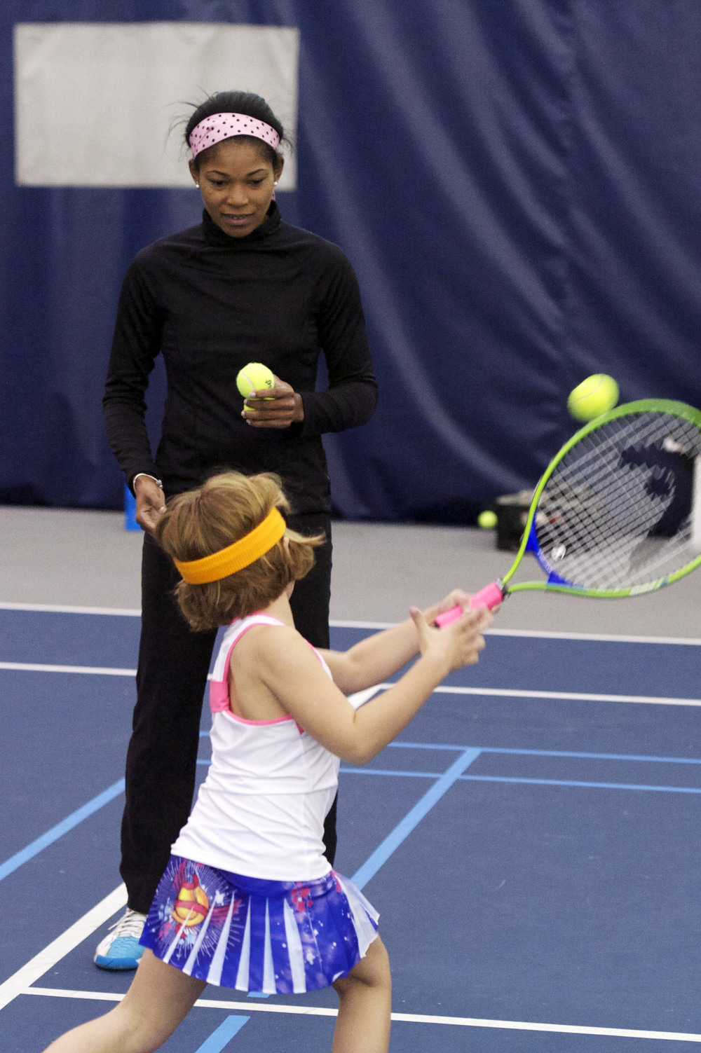 Yates offers private and group tennis and squash lessons for children of all ages and levels.