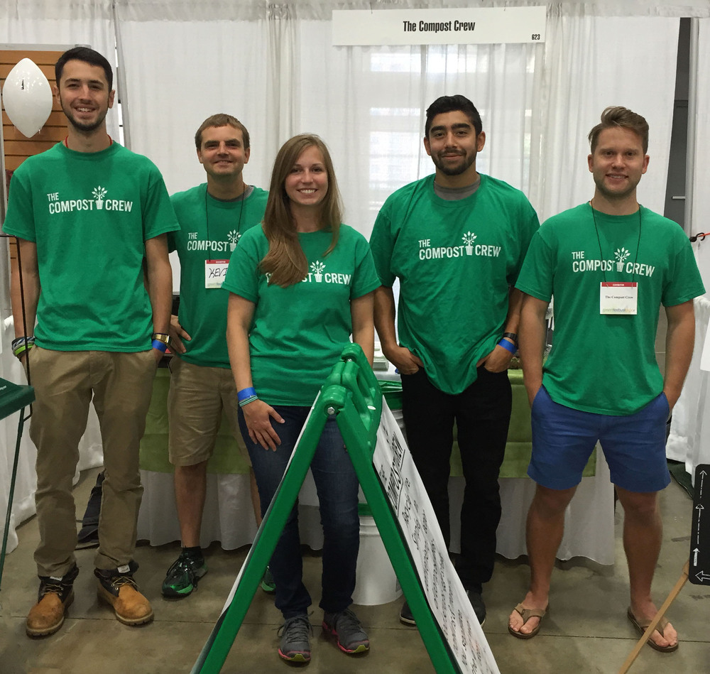 """The Compost Crew team attends the 2015 Green Festival at the DC Convention Center.     Normal   0           false   false   false     EN-US   X-NONE   X-NONE                                                                                                                                                                                                                                                                                                                                                                    /* Style Definitions */  table.MsoNormalTable {mso-style-name:""""Table Normal""""; mso-tstyle-rowband-size:0; mso-tstyle-colband-size:0; mso-style-noshow:yes; mso-style-priority:99; mso-style-parent:""""""""; mso-padding-alt:0in 5.4pt 0in 5.4pt; mso-para-margin:0in; mso-para-margin-bottom:.0001pt; mso-pagination:widow-orphan; font-size:11.0pt; font-family:""""Calibri"""",""""sans-serif""""; mso-ascii-font-family:Calibri; mso-ascii-theme-font:minor-latin; mso-hansi-font-family:Calibri; mso-hansi-theme-font:minor-latin;}"""