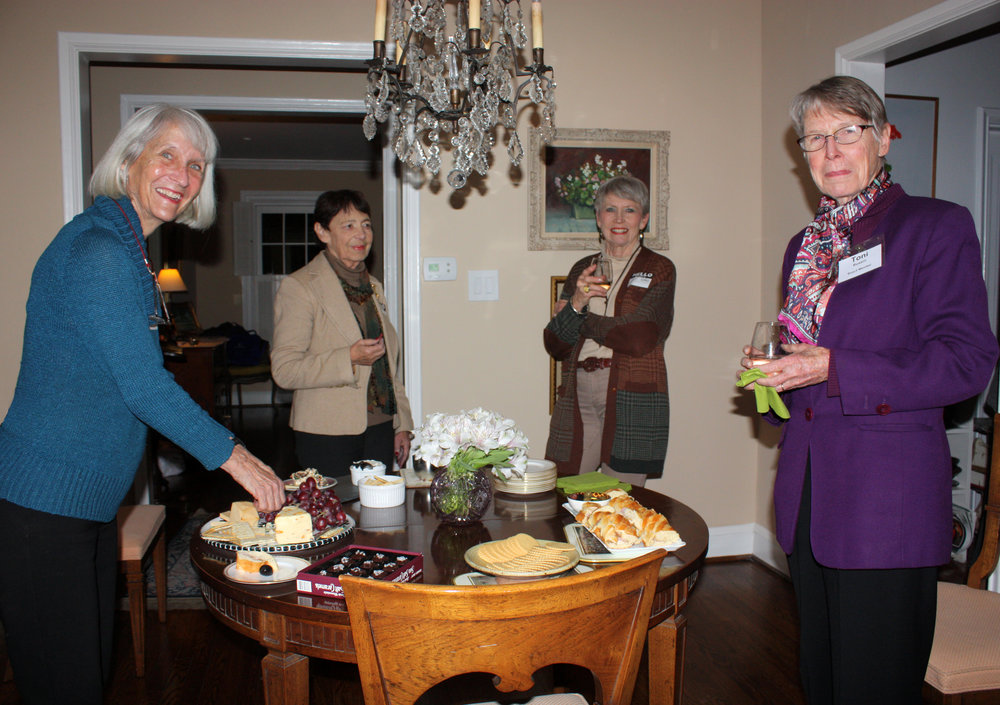 on november 16, board member Pat Scolaro hosted a gathering for neighbors interested in learning more about the Village, its services,  programs, and volunteer opportunities.