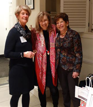 Board Member Nancy Roll, realtor Nancy Taylor Bubes, and president  gail nordheimer.