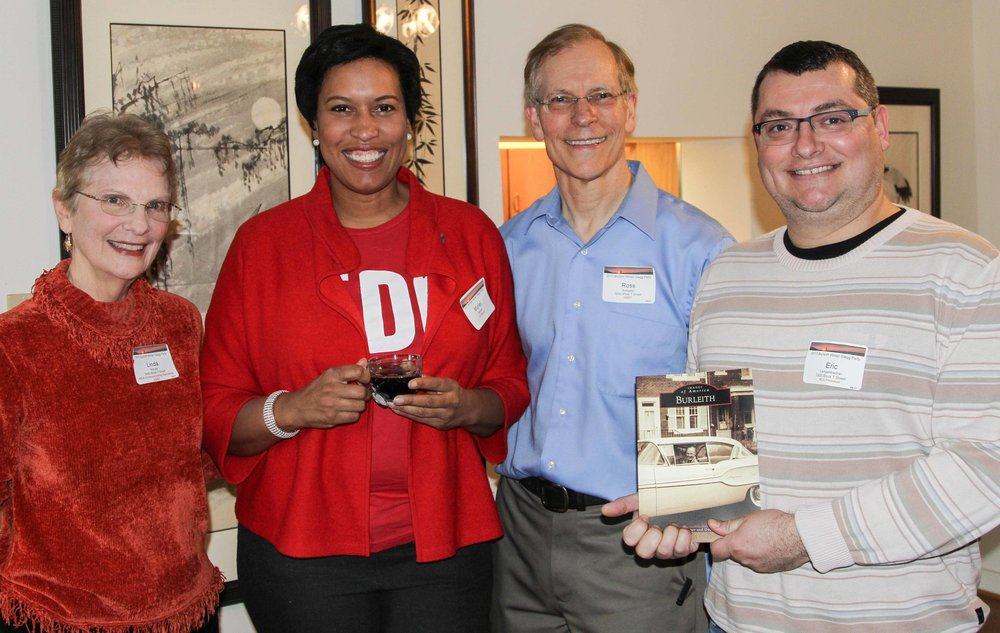 We were thrilled to have Mayor Bowser join the party, pictured with hosts Linda Brooks and Ross Schipper and BCA President Eric Langenbacher. photos by Alex Frederick.