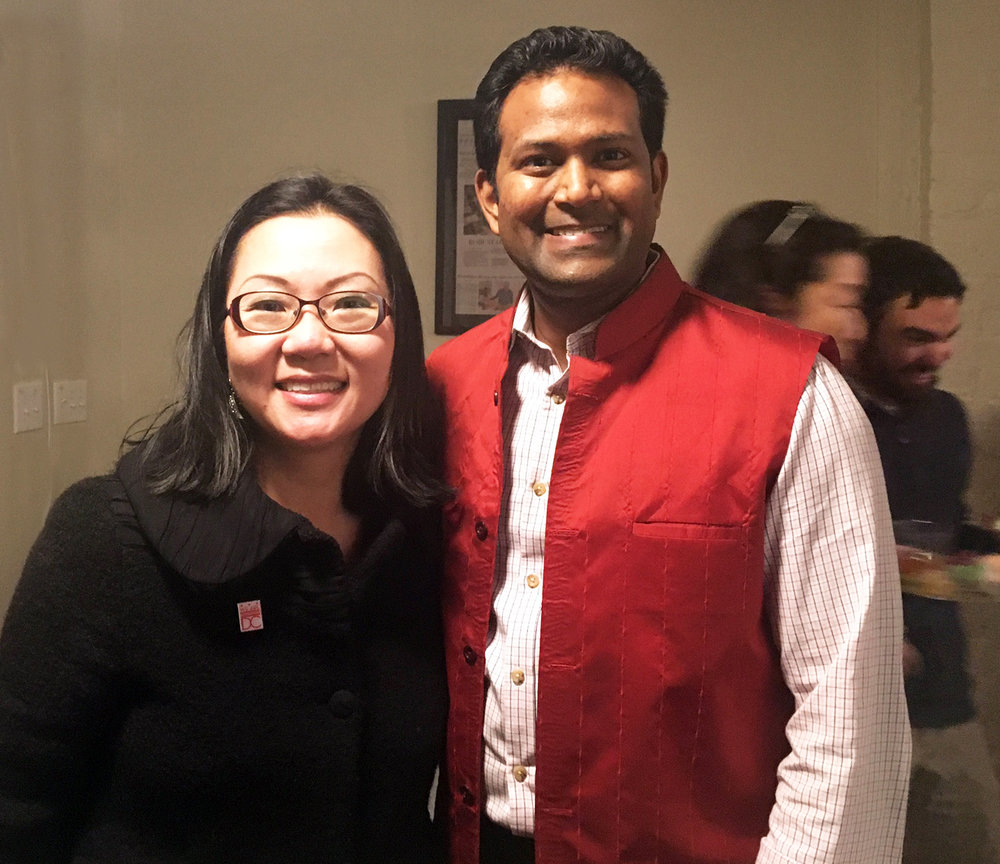 HyeSook Chung and host Kishan Putta.
