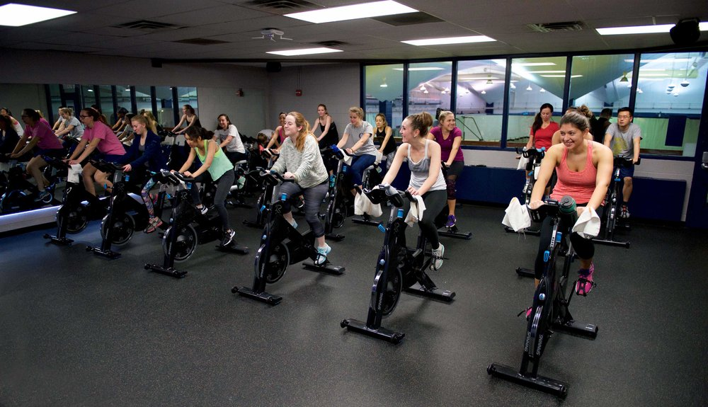 Yates offers classic Spinning classes throughout the week, as well as classes with a twist such as Spin Xpress.