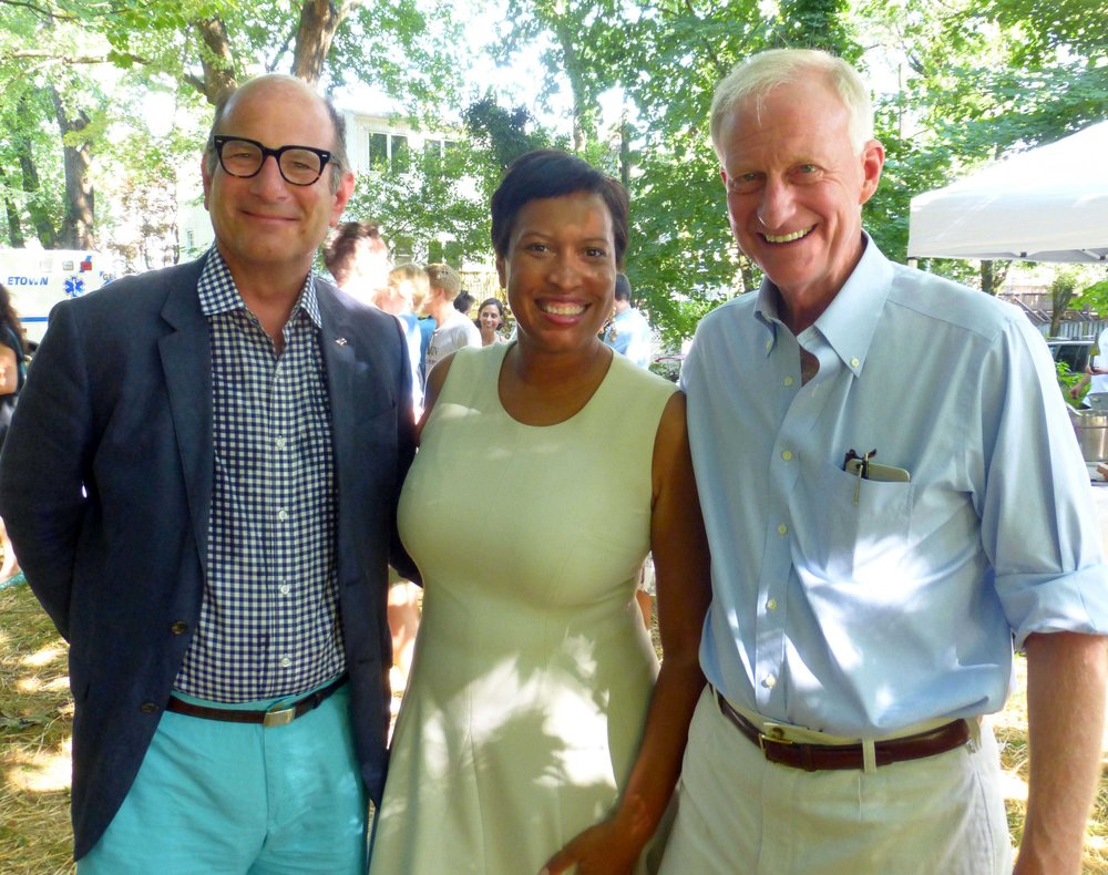 special guests ANC-2E chair Joe Gibbons, Mayor Muriel Bowser, and Councilmember Jack Evans.