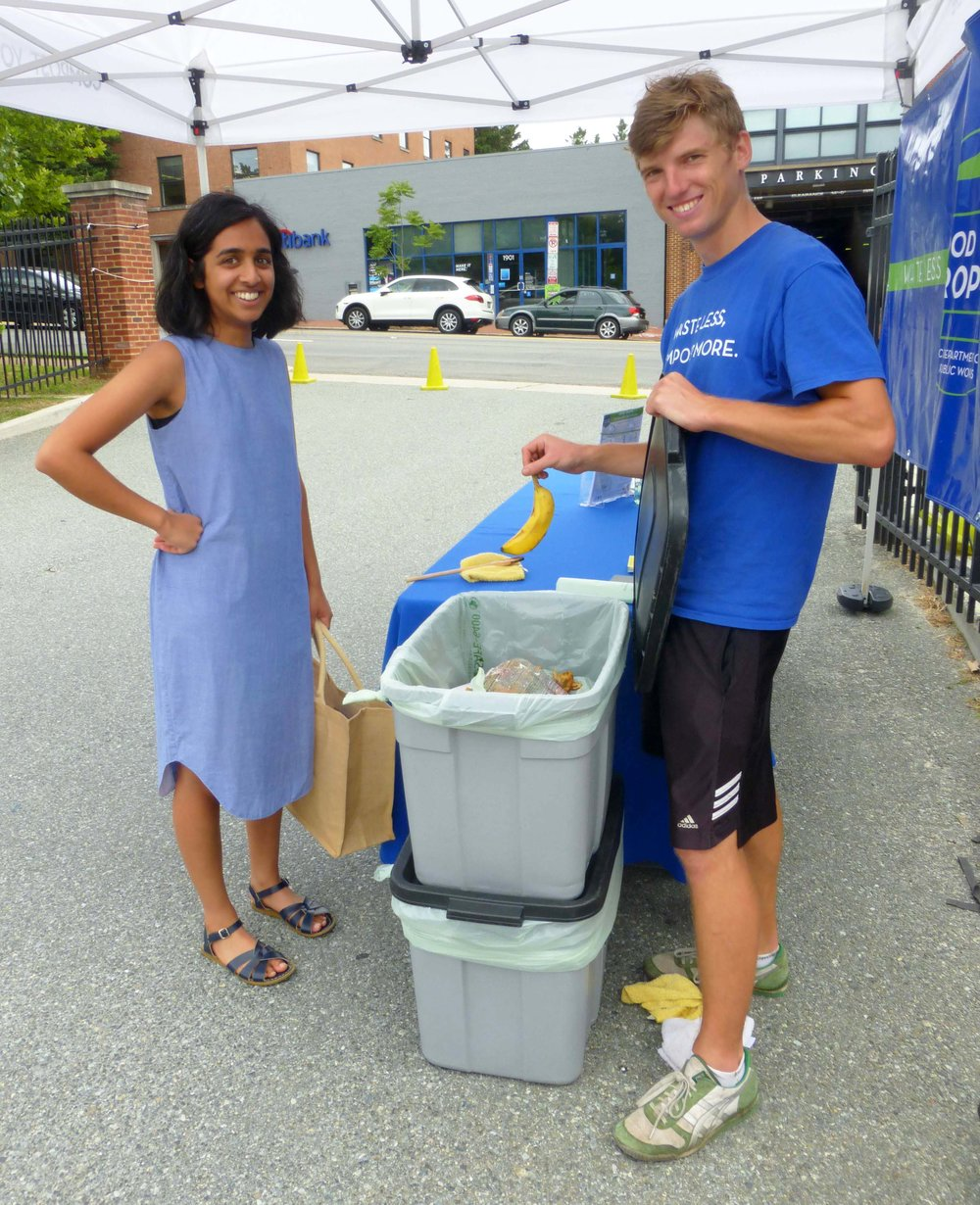drop-offs have increased over the summer, says Fred, with watermelon rinds and corn cobs making the collection bins heavier than ever.