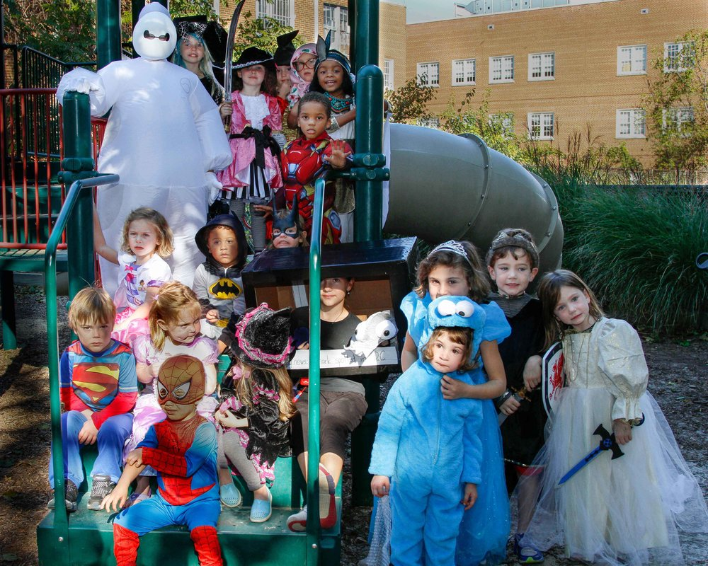 In addition to providing space to play, the Tot Lot has been the site of the BCA's annual Halloween party for many years .