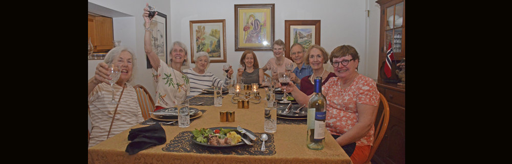 Pot Luck Dinner at Home of Linda Brooks - May 4, 2018