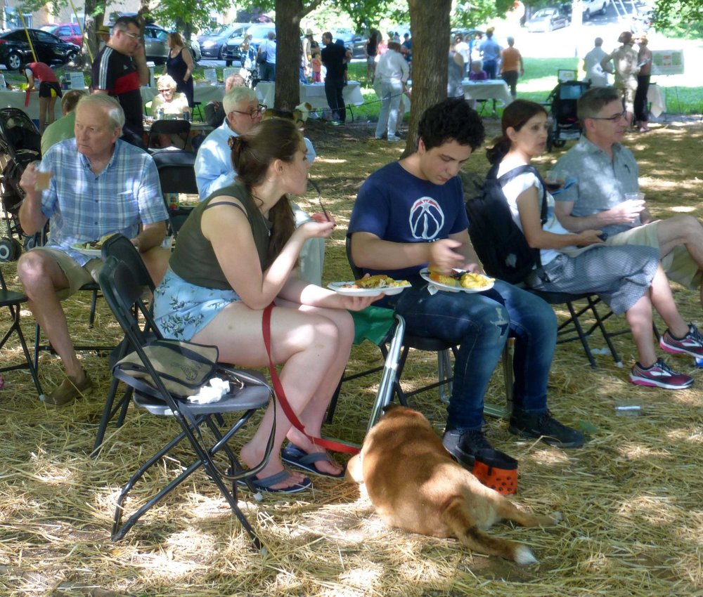 More than 125 neighbors and friends attended this year's picnic at Whitehaven Green Lot.