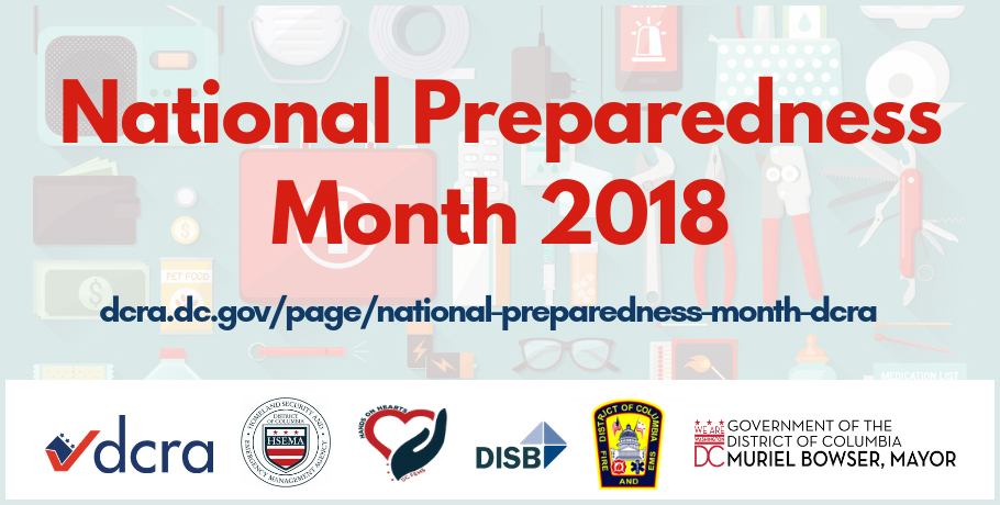 Follow DCRA on its social media accounts for safety tips and event updates. #PrepareEarlyBeReady #NatlPrep #DCDCRANatlPrep #PlanAhead #SafeandSimple.