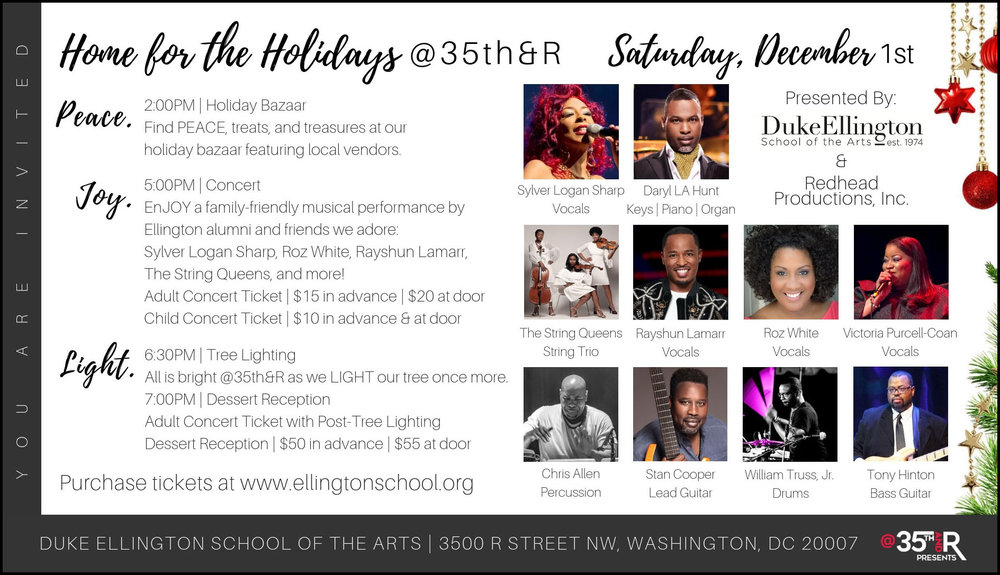 this event has been cancelled, so take advantage of ellington's other holiday performances.