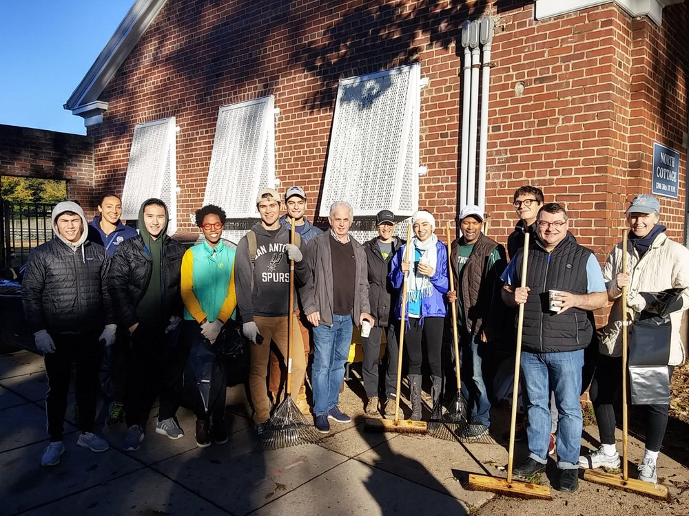 Residents gathered to tackle trash in the neighborhood and get to know one another. Photo by Janice Sims.
