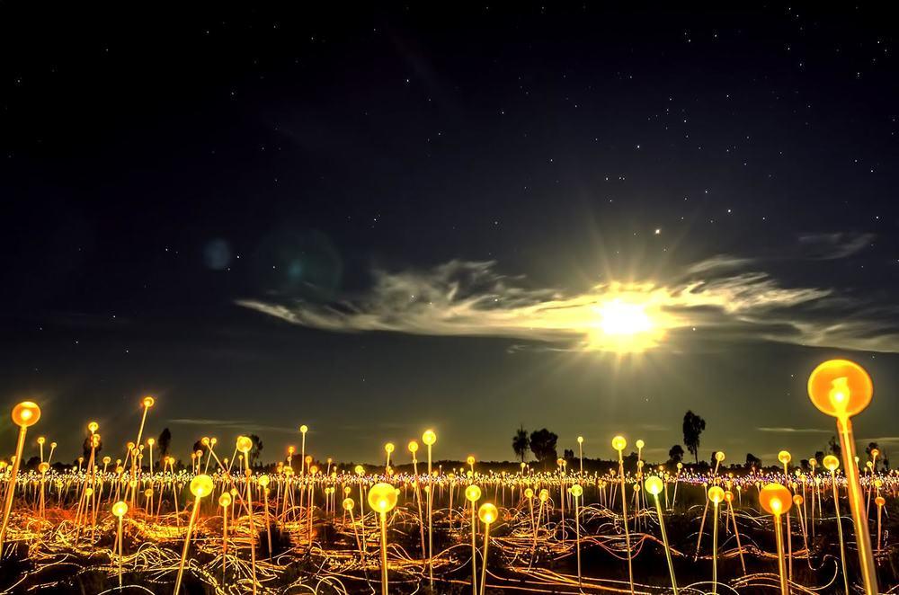 Field of Light under a Full Moon (c) Claudia Jocher 2016