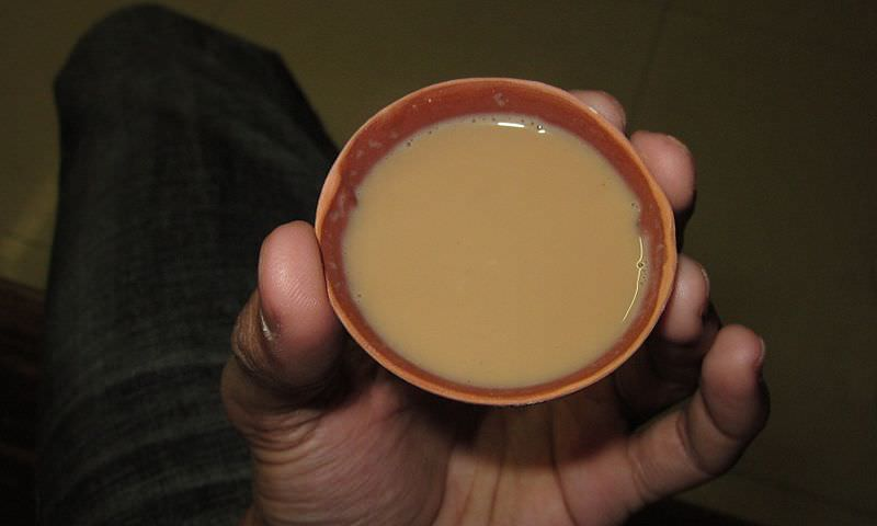 Chai in a clay cup (kulhar). Pic courtesy of  Shantanu.parc