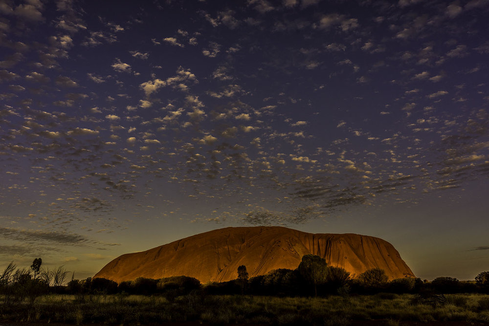 Uluru sunset December 2015. Photo Claudia Jocher (c) 2016