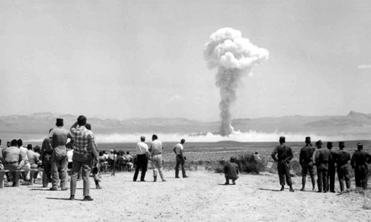 Nuclear explosion at maralinga, south australia in the 1950's.