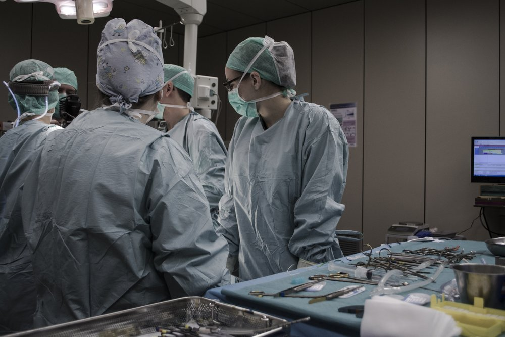 Caring in the Operating Theatre. Pic by Piron Guillaume.
