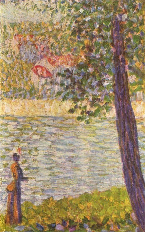 Die Seine bei Courbevoie by  George Seurat  1885.
