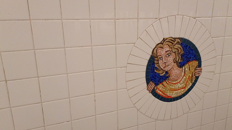New York subway art. Photo by  Jess Hawsor .