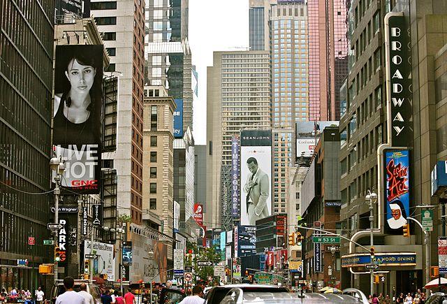 Broadway by daylight. Photo courtesy  Alex Proimos .