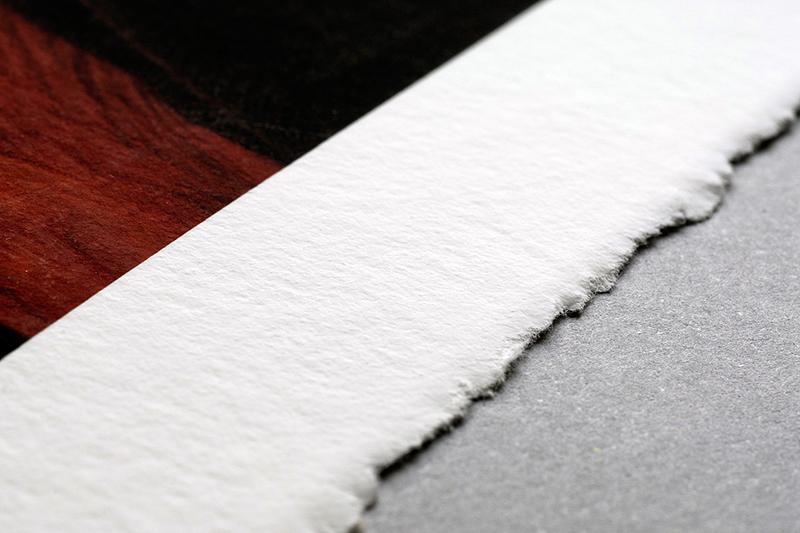 Hahnemühle Museum Etching:100%fibra di cotone, più simile a una tela che a una carta, per spessore, sensazioni tattili e trama.