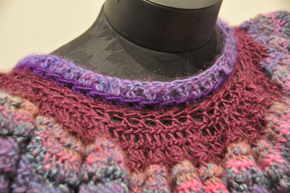 Purple Shawl Detail